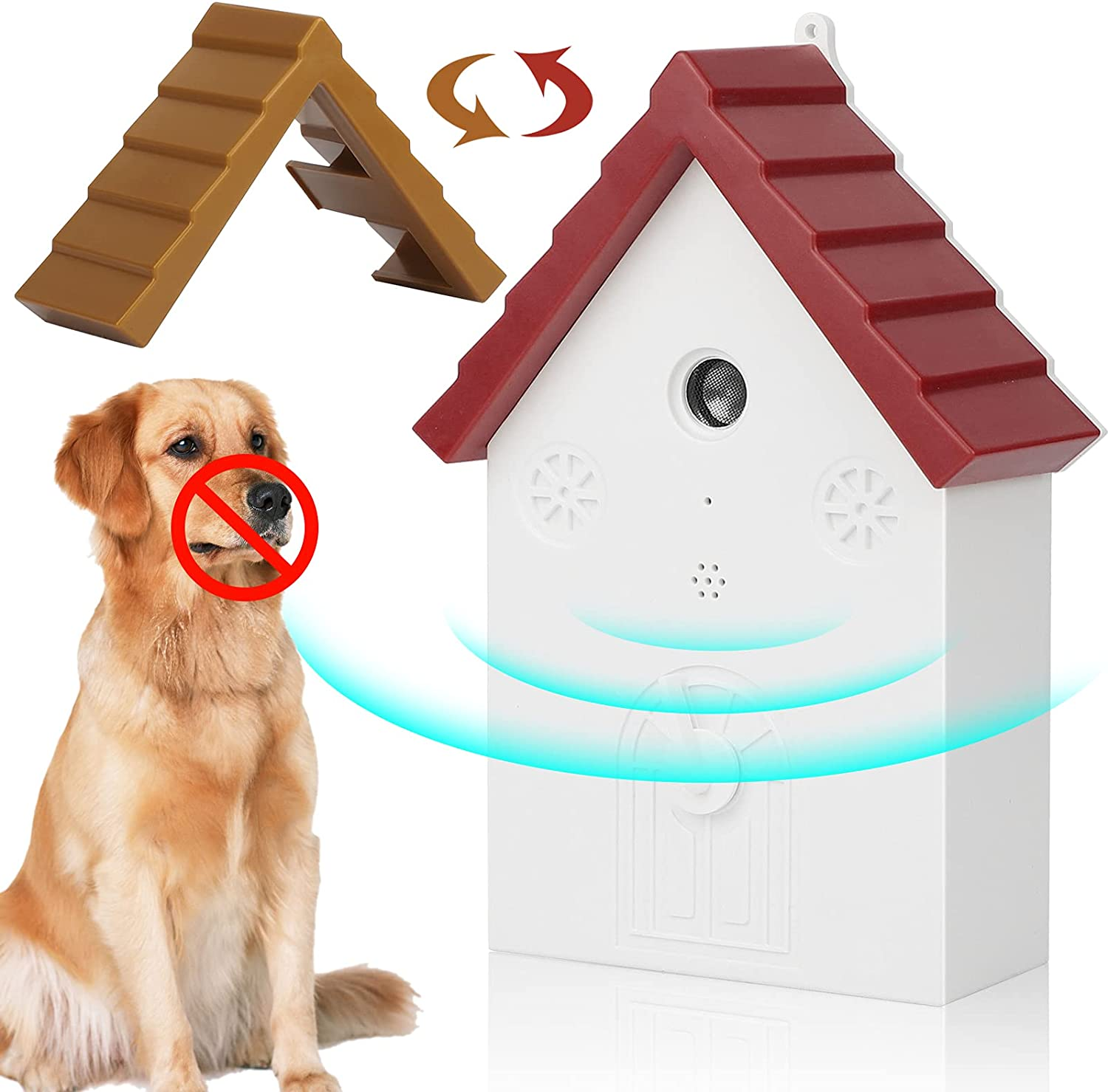 Ultrasonic Dog Barking Deterrent, Barking Control, Anti-Barking Device, Three-Frequency Non-Barking Control Device to Prevent Dog Barking, Outdoor Electronic pet Training Products