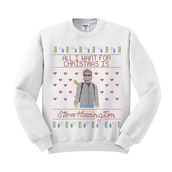 02e39238 Amazon.com: TeesAndTankYou Steve Harrington Christmas Sweatshirt Unisex:  Clothing