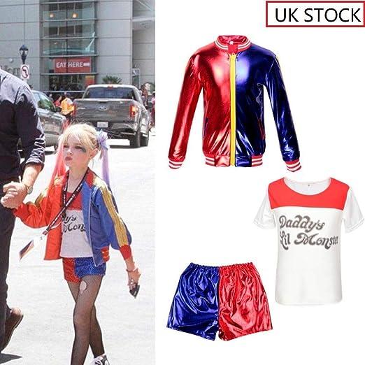 CBBI Disfraz de Harley Quinn de Suicida para niñas: Amazon.es ...