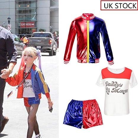 CBBI Disfraz de Harley Quinn de Suicida para niñas