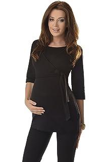 4852cd7c09b05 Purpless Maternity 2in1 Pregnancy Nursing Wrap Top 3/4 Sleeved Tunic  Pregnant Breastfeeding Women 7035
