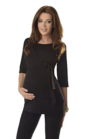 00f388f5f1c60 Purpless Maternity 2in1 Pregnancy and Nursing Wrap Top 3/4 Sleeved Tunic  for Pregnant and