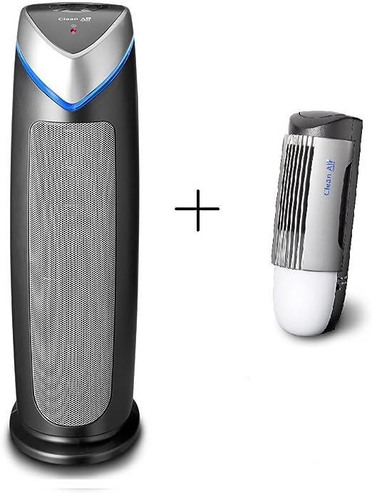 Ionizador purificador de aire HEPA UV CA-506 + diseño ionizador purificador de aire plasmáticas CA-267 - Combi-oferta -