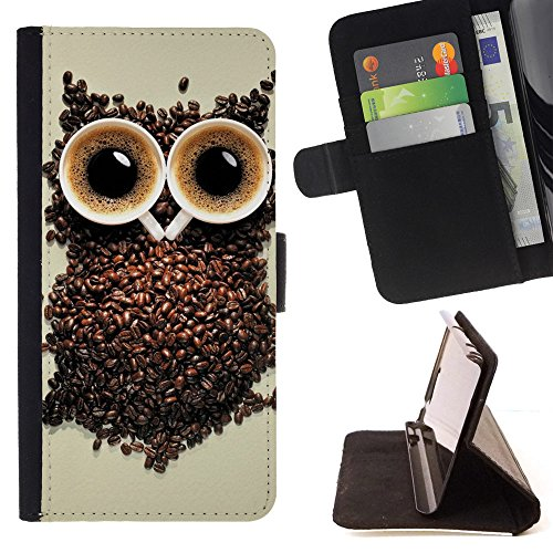 God Garden - FOR Apple Iphone 4 / 4S - Coffee Cups - Glitter Teal Purple Sparkling Watercolor Personalized Design Custom Style PU Leather Case Wallet Fli