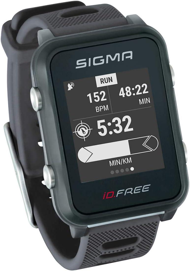 ID.Free Reloj multideportivo con GPS para el Aire Libre y navegación, notificaciones Inteligentes, Geocaching, medición de Pulso en la muñeca, a Prueba de Agua, Incl. Soporte para Bicicleta