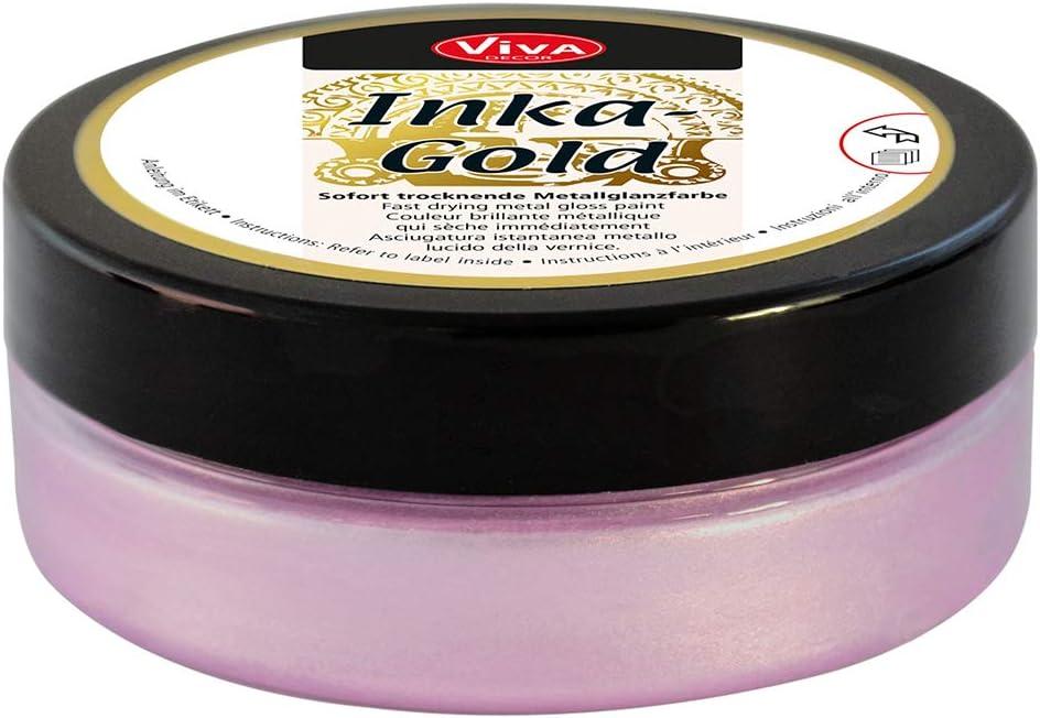 Viva Decor VD1204-92636 Inka Gold Paint, 62.5gm, Rose Quartz