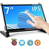 Raspberry Pi Portable Monitor, 7'' IPS TouchScreen USB Small Monitor with Dual Speakers, IPS 1024X600 PI Display for Raspberry Pi 4/3/2/ Zero, Windows 7/8/10, NitendoSwitch/Xbox/PS4, ect