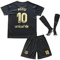 Zeala Sport 2020/21 Barcelona Soccer Football Youth Away Jersey Kit Messi 10 Kids