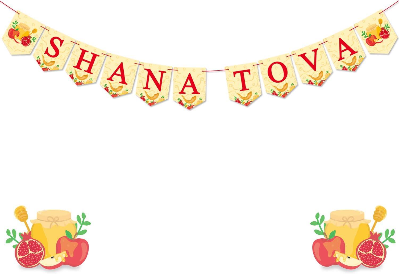 Yaaaaasss! Shana Tova Banner Jewish Holiday Greetings Garland Jewish New Year Decorations Jewish High Holy Day Supplies Rosh Hashanah Decor