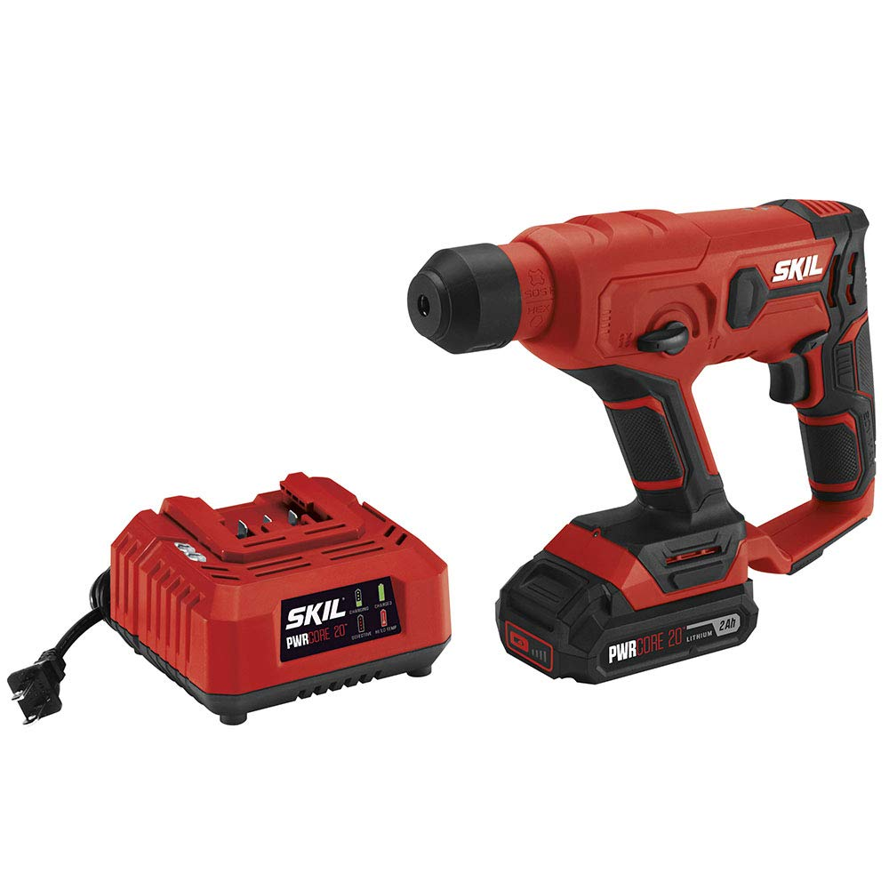 SKIL 20V SDS-plus Rotary Hammer, Includes 2.0Ah Pwrcore 20 Lithium Battery & Charger - RH170202 by Skil (Image #2)