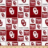 Cotton University of Oklahoma Sooners College Team Sports Cotton Fabric Print By the Yard