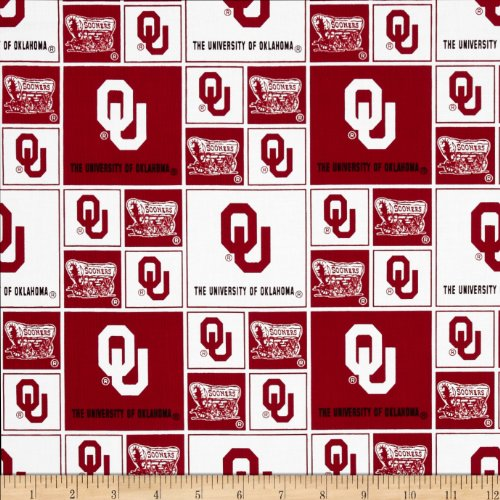 Cotton University of Oklahoma Sooners College Team Sports Cotton Fabric Print By the - University Cotton Fabric