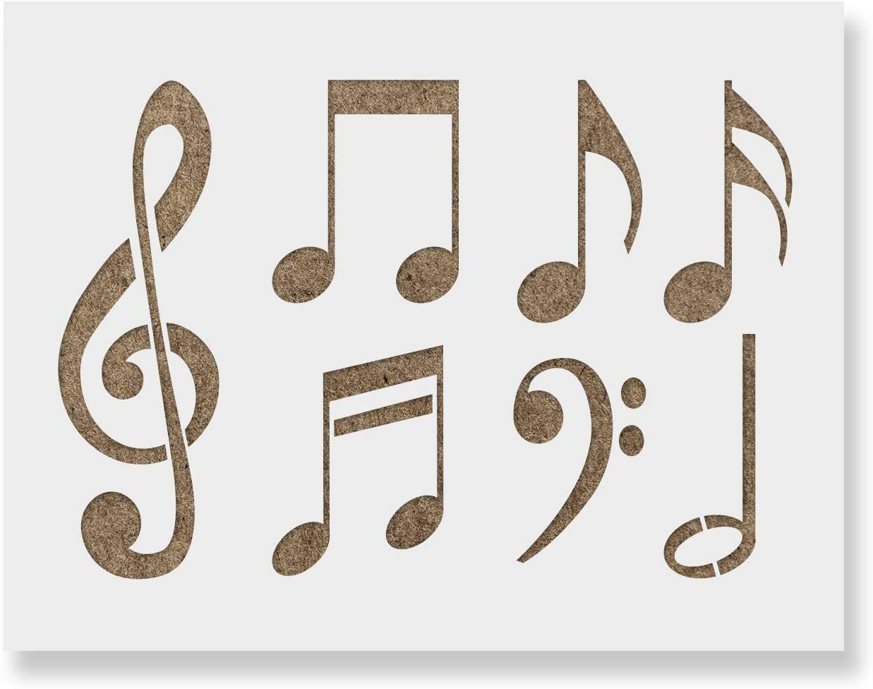 Music Note 101 Stencil