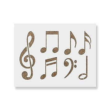 Musical Notes Border Stencil Reusable Stencil for Walls