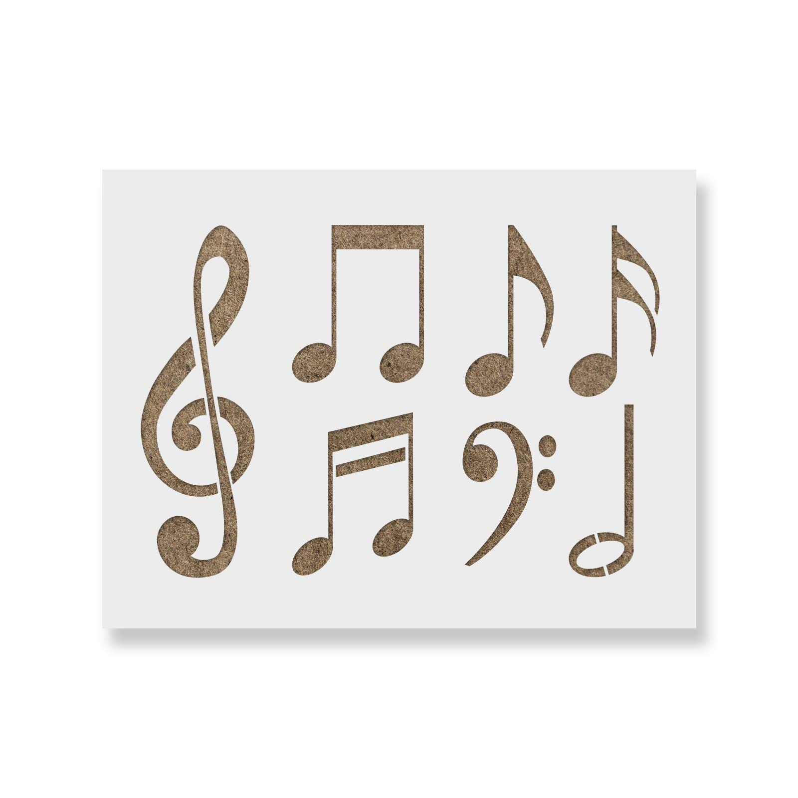 Music Notes Stencil Template - Reusable Stencil with Multiple Sizes Available
