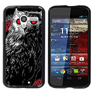 - Owls Owl Cute Pattern - - Monedero pared Design Premium cuero del tir¨®n magn¨¦tico delgado del caso de la cubierta pata de ca FOR Motorola Moto X 1ST Gen Funny House