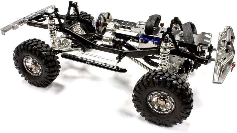 Integy RC Model Hop-ups C24866BLACKT1 V2 Billet Machined 1/10 Trail Roller 4WD Off-Road Scale Crawler ARTR: Amazon.es: Juguetes y juegos