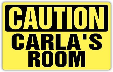 Fhdang Decor Caution Cartel metálico para habitación de ...