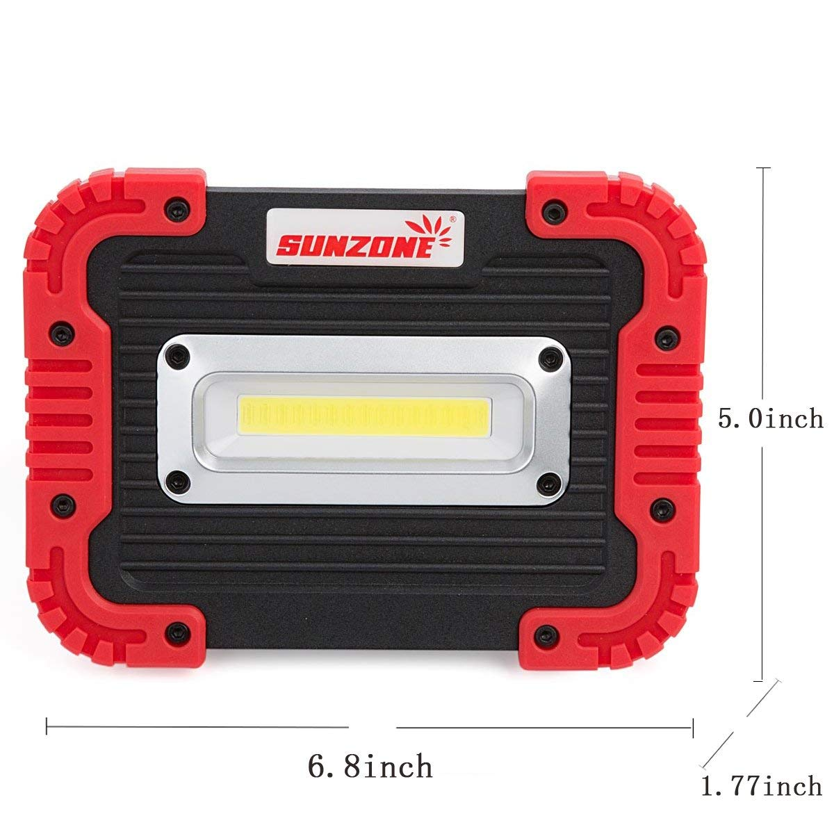 Yellow 2 Pack SUNZONE LED Work Light Rechargeable Portable Waterproof LED Flood Lights for Outdoor Camping Hiking Emergency Car Repairing and Job Site Lighting