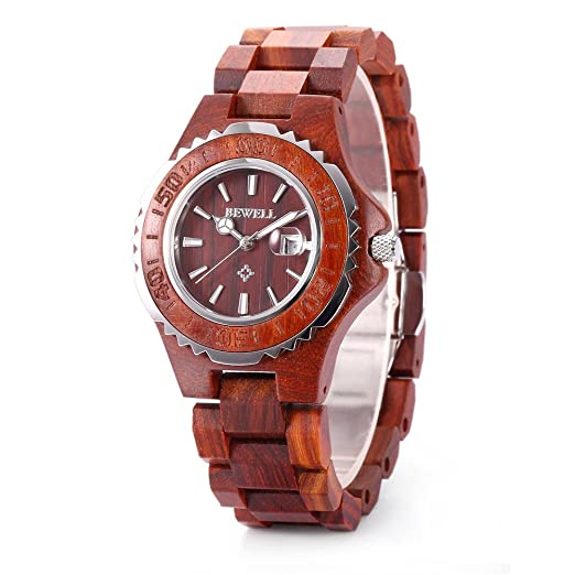Bewell Women's Bamboo Wood Watch