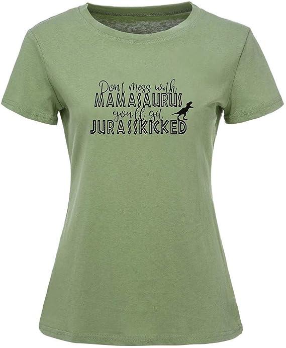Wawer - Camiseta de manga corta para mujer, manga corta, de ...