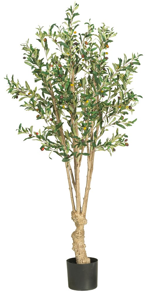 Nearly Natural 5258 Olive Silk Tree, 5-Feet, Green by Nearly Natural