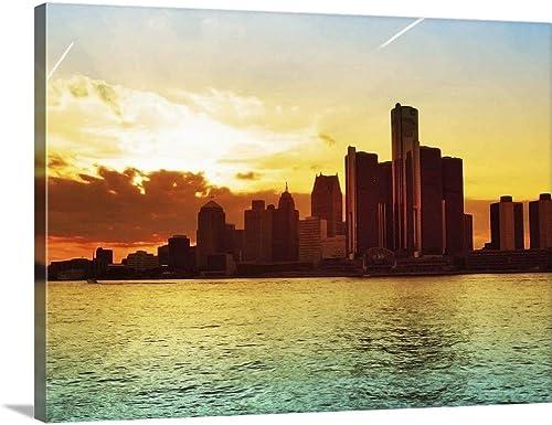 Detroit Skyline Canvas Wall Art
