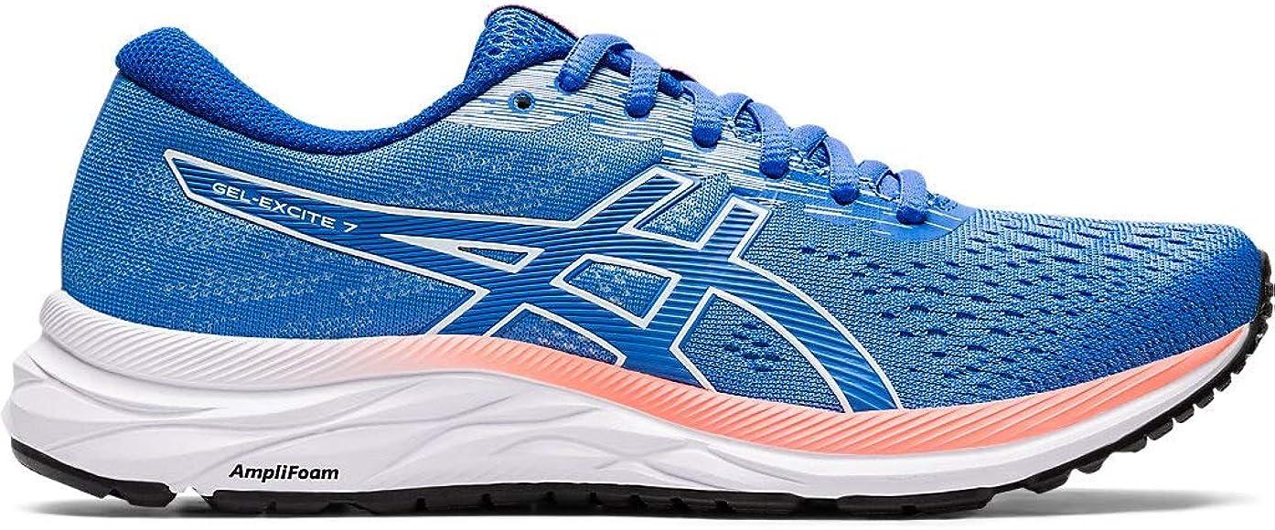 Asics Gel-Excite 7 - Zapatillas de correr para mujer, Azul (Costa Azul/Blanco), 40 EU: Amazon.es: Zapatos y complementos