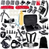 KUNOVA (TM) 50-in-1 Action Camera Accessory Kit Compatible with GoPro Hero 8 Max 7 6 5 4 Black GoPro 2018 Session Fusion…