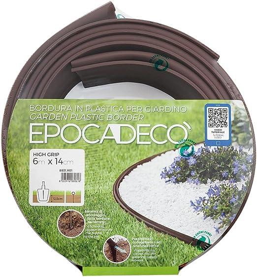 Epocadeco 8831.X05 - Borde limitador para jardín (plástico, 38 x 38 x 14 cm), Color marrón: Amazon.es: Jardín