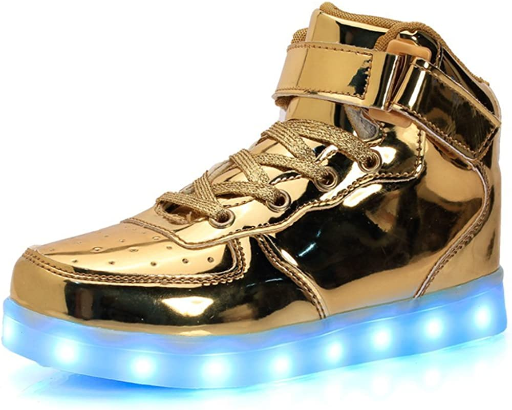 FG21ds21g Led High Top Light Up Shoes Flashing Sneakers for Kids Boys Girls