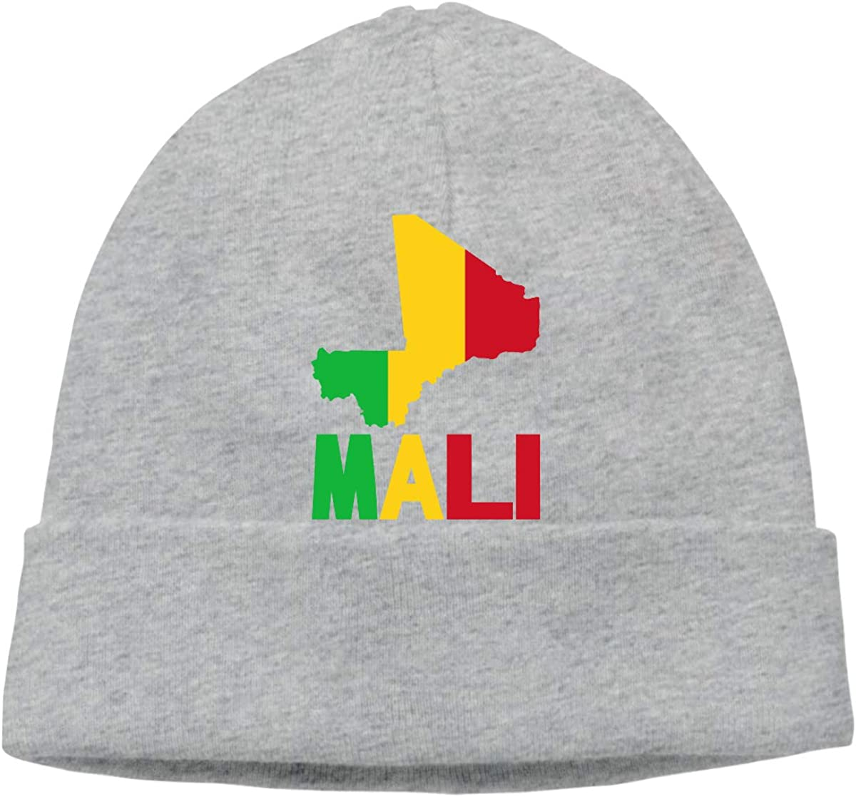 GDSG5/&4 Mali Map Flag and Text Men and Women Knitting Wool Warm Cycling Beanie Hat