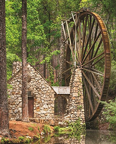 Springbok Puzzles -Water Wheel Alzheimer and Dementia Puzzle - 36 Piece - 23.5 by 18 inches Puzzle - Made in USA - Unique Cut Interlocking Pieces
