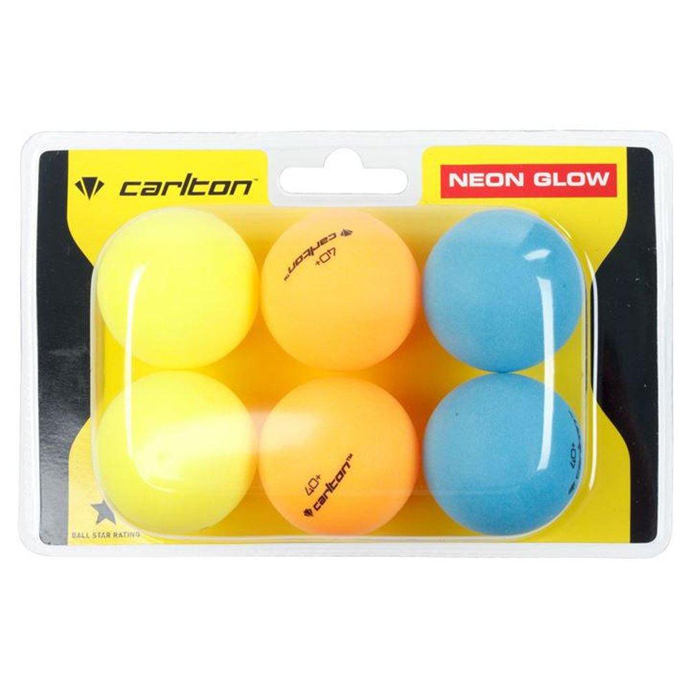 Carlton Neon Glow Tischtennisbälle, 6Stück Ping Pong 6Stück Ping Pong
