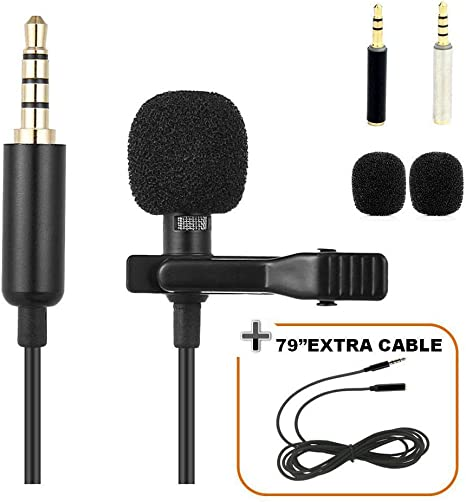 Lavalier Lapel Microphone Omnidirectional Tie Clip On Mic ...