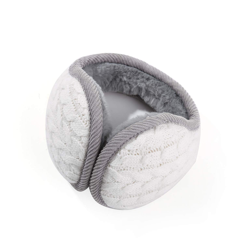 Knitted Warm Winter Earmuffs Unisex Fluffy Adjustable Fleece Earwarmers Covers