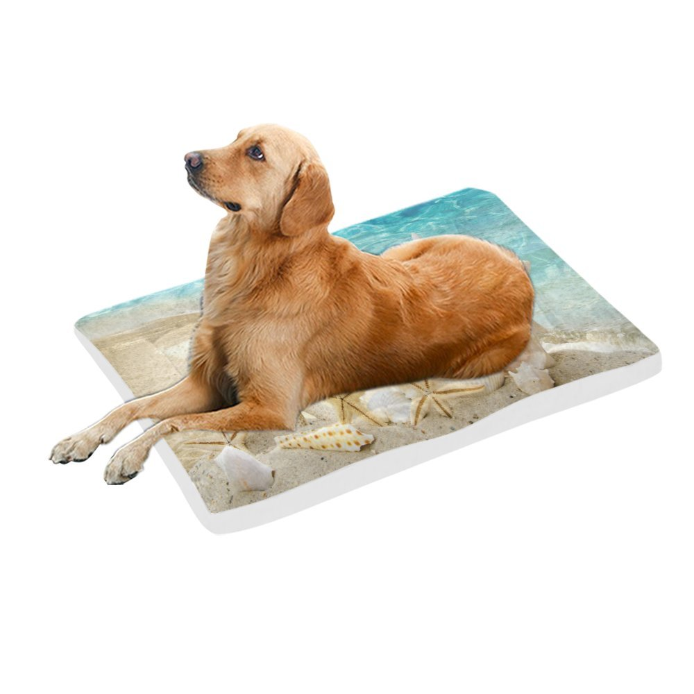 42\ your-fantasia Summer Starfish on the Beach Pet Bed Dog Bed Pet Pad 42 x 26 inches