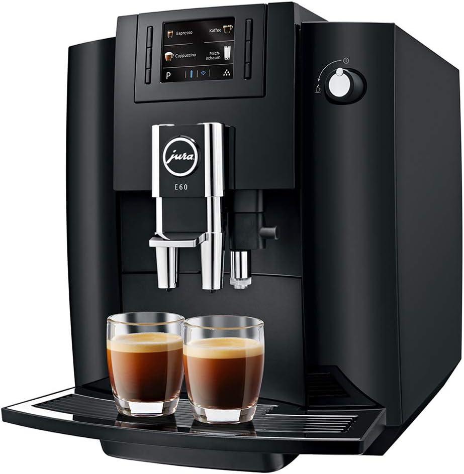 JURA E60 Piano Black Independiente Máquina espresso Negro 1,9 L 16 tazas Totalmente automática - Cafetera (Independiente, Máquina espresso, 1,9 L, Molinillo integrado, 1450 W, Negro): Amazon.es: Hogar
