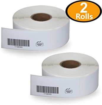"""4 Rolls//Case Thermal Transfer Labels 4/"""" x 3/"""" Roll Perforated 3/"""" Core 1960//Roll"""