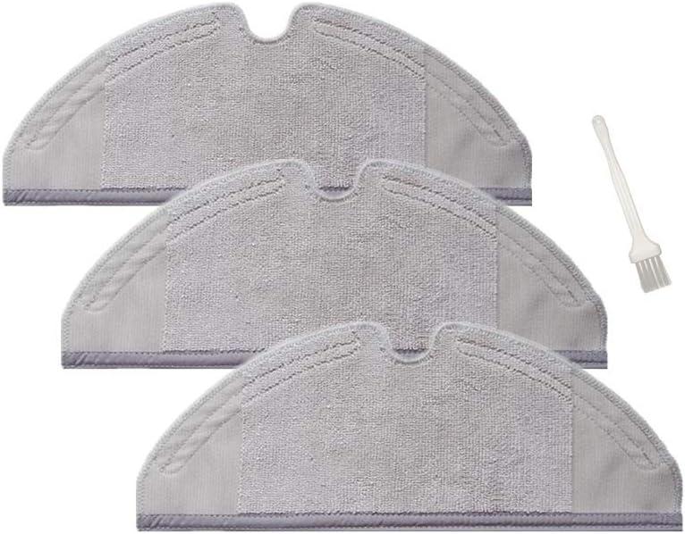Sweet D Repuestos de Dry/Wet Mopa Paños para Xiaomi MI Robot 2 Roborock S50 Aspirador Accesorios, Lavables, Dim 300 x 115 mm, 3 Pzs