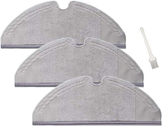 Sweet D Repuestos de Dry/Wet Mopa Paños para Xiaomi MI Robot 2 Roborock S50 Aspirador Accesorios, Lavables, Dim 300 x 115 mm, 3 Pzs: Amazon.es: Hogar
