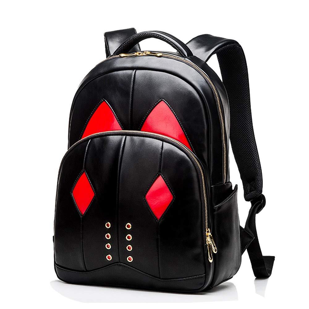 バックパックの男性と女性の潮流ファッショントレンドパーソナリティ大容量コンピュータバッグ medium  B07LD6CSBZ