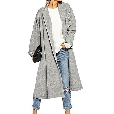 K-Youth Cárdigan Largo para Mujer Abrigos Mujer Invierno Elegantes Chaqueta de Lana Capa Jacket Parka de Mujer Casual Otoño Chaqueta para Mujer Outwear 2018 ...
