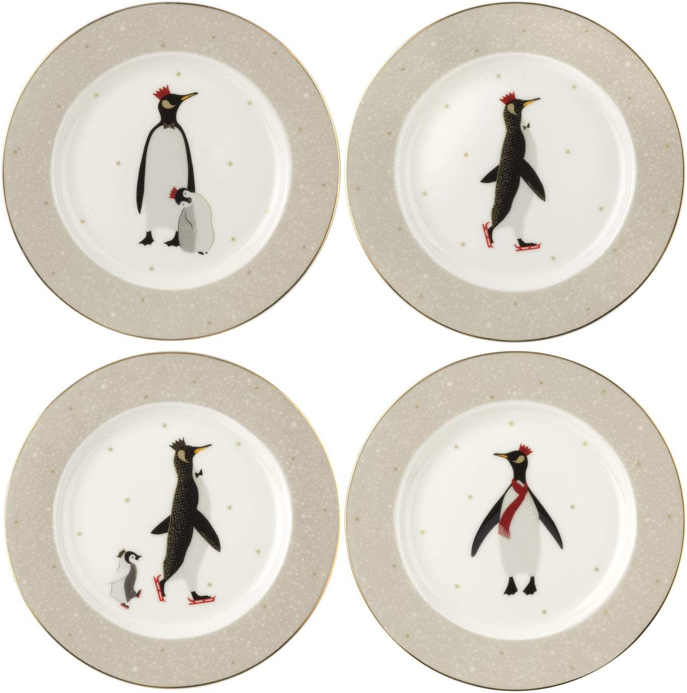 Portmeirion Home & Gifts Cake Plates S/4 Boxed Set, Porcelain