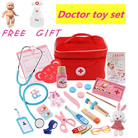 Amazon Com Doctor Kit Kids Dentist Surgeon Vet Medical Kit