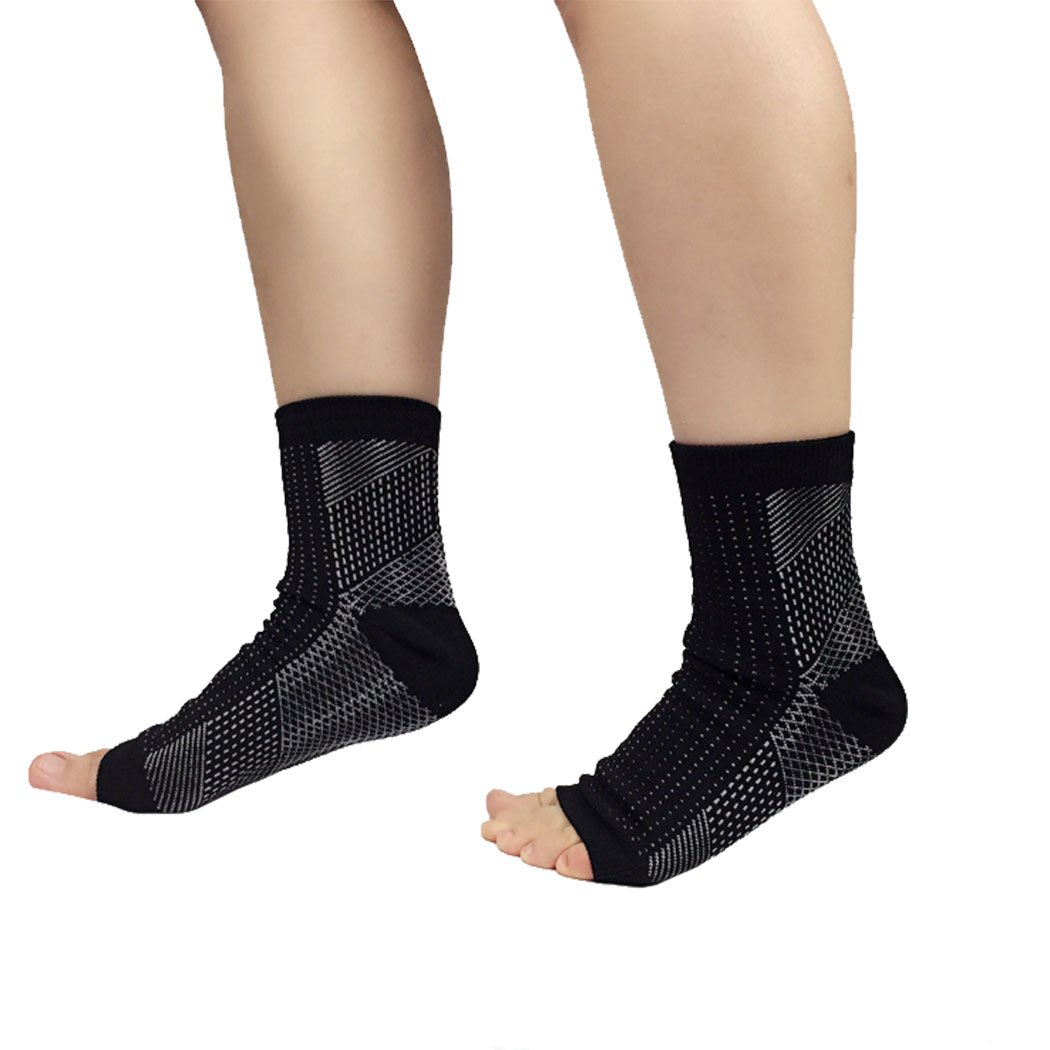 9a3f4fc9e9 Amazon.com: Hoter Compression Socks Ankle Open Toe 20-30 mmHg for Athletics  Injury Recovery Joint Pain: Sports & Outdoors