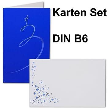 Exklusive Weihnachtskarten.25 Sets Exklusive Weihnachtskarten Din B6 Faltkarten Blauer