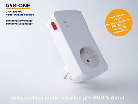 GSM interruptor remoto y sensor de temperatura, DRH de 301 de V3 (Master)
