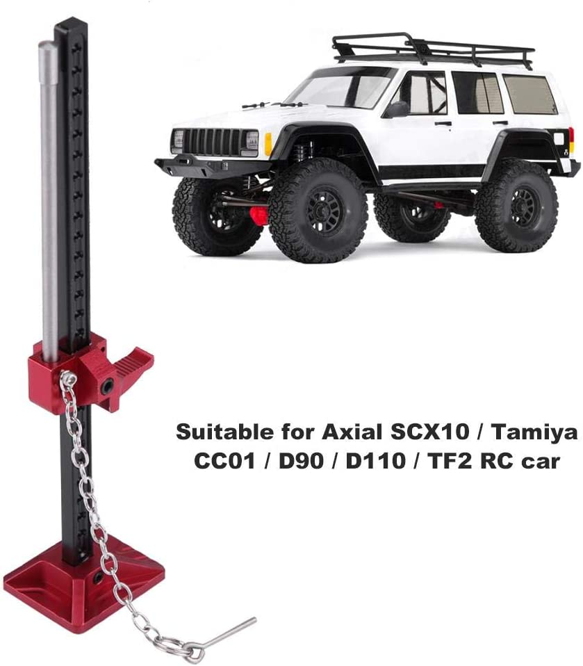 RC High Lift Jack Metal Adjustable Decoration High Lifting Jack for 1//10 RC Crawlers Climbing Cars