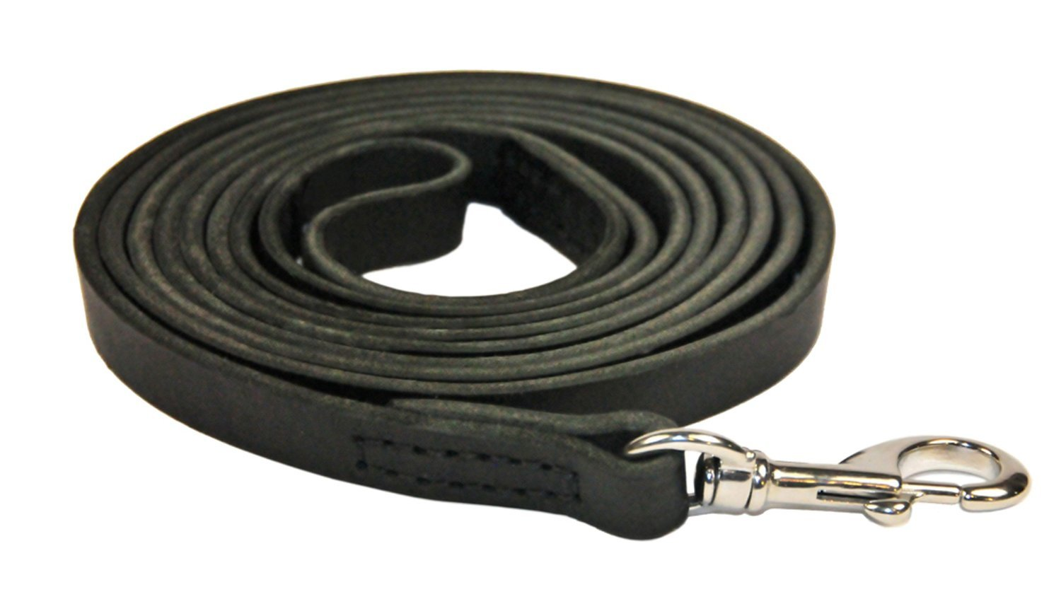 Dean and Tyler Stitched Track Dog Leash, Black 45-Feet by 3/8-Inch Width with Stainless Steel Hardware